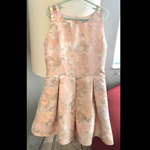 The Children's Place rose gold/pink floral dress